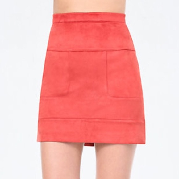 bebe Dresses & Skirts - Bebe faux suede skirt